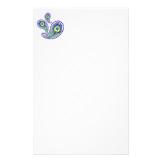 Peacock Feather Stationery