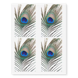 Peacock Feather Temporary Tattoos