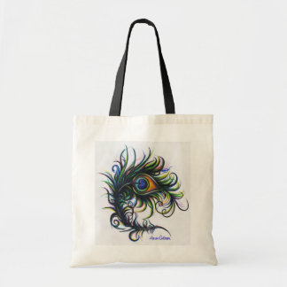 Peacock Feather Tote Budget Tote Bag