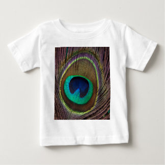 Peacock Feather Upright Close-Up Baby T-Shirt