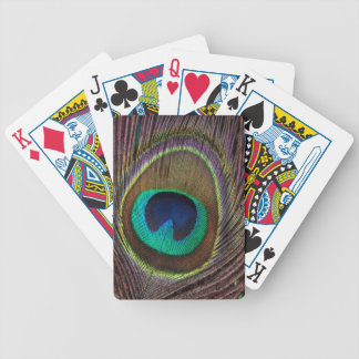 Peacock Feather Upright Close-Up Bicycle Playing Cards