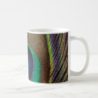 Peacock Feather Upright Close-Up Coffee Mug