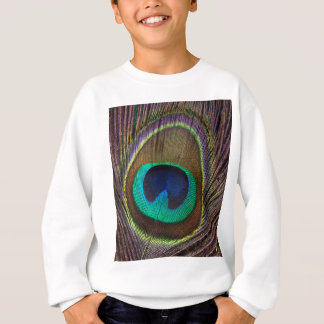 Peacock Feather Upright Close-Up Sweatshirt