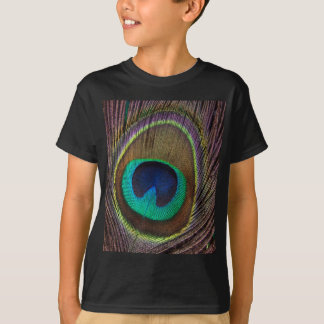 Peacock Feather Upright Close-Up T-Shirt
