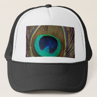 Peacock Feather Upright Close-Up Trucker Hat