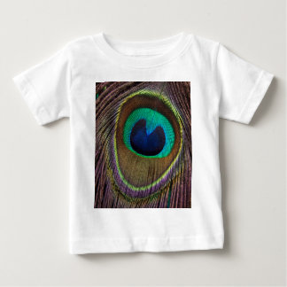Peacock Feather Upside Down Close-Up Baby T-Shirt