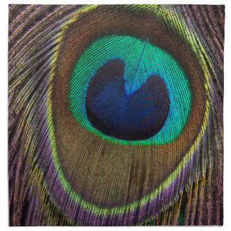 Peacock Feather Upside Down Close-Up Napkin