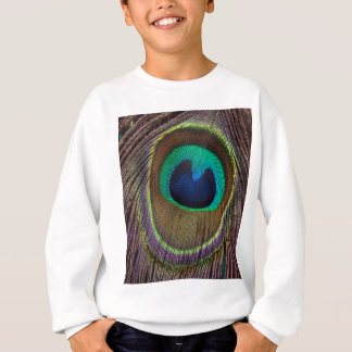 Peacock Feather Upside Down Close-Up Sweatshirt