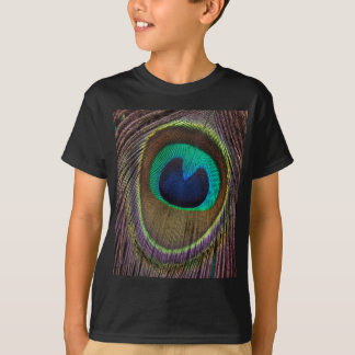Peacock Feather Upside Down Close-Up T-Shirt