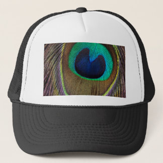 Peacock Feather Upside Down Close-Up Trucker Hat