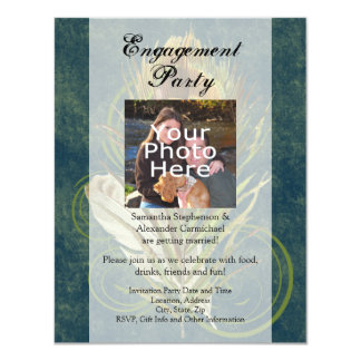 Peacock Feather Wedding Engagement Party Photo Card