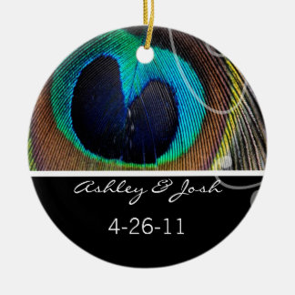 Peacock Feather Wedding Ornament