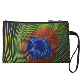 """Peacock Feather"" Wristlet"