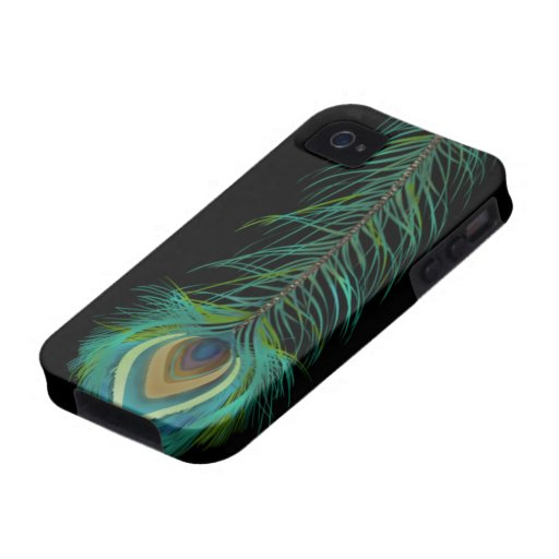 Peacock Feather You Choose Background Color iPhone 4 Cover