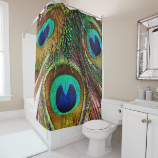 Peacock Feathers 4 Shower Curtain