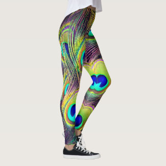 Peacock Feathers 5 Leggings