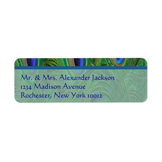 Peacock Feathers Address Labels