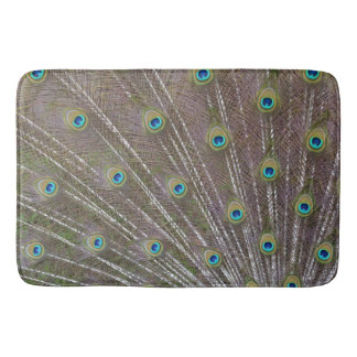 Peacock Feathers Bath Mat