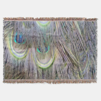 Peacock Feathers Big Eyes Dashing Colors Throw Blanket