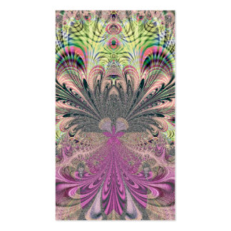 Peacock Feathers Bouquet Fractal Pack Of Standard Business Cards