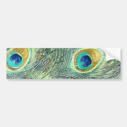 PEACOCK FEATHERS BUMPER STICKERS