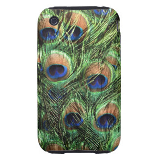 Peacock feathers iPhone 3 tough cases
