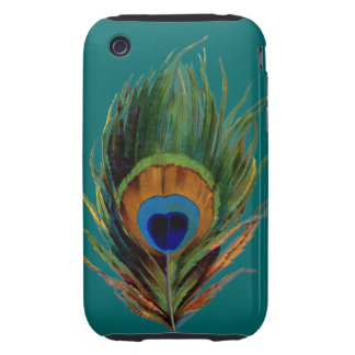 Peacock Feathers Tough iPhone 3 Cases
