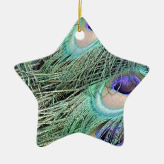 peacock feathers christmas ornament