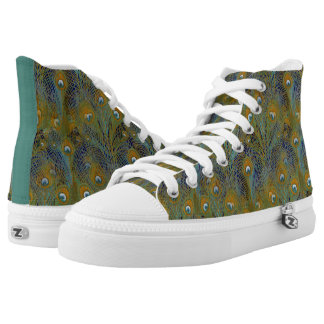 Peacock Feathers Coordinates High Tops