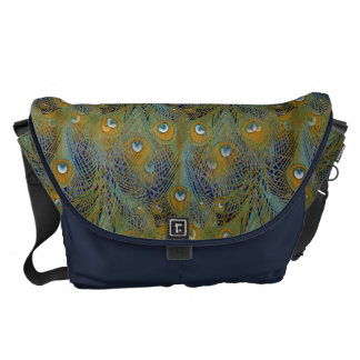 Peacock Feathers Coordinates Messenger Bag