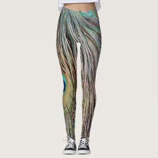 Peacock Feathers Dashing Colors Leggings