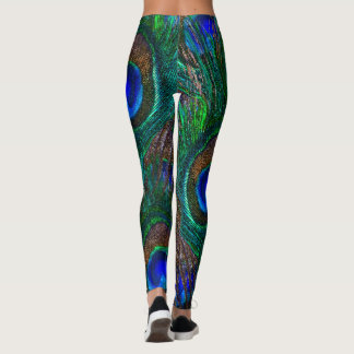 Peacock Feathers Decor on Leggings