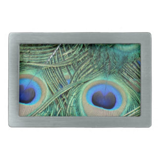 Peacock Feathers Deep Green Large Eyes Belt Buckle