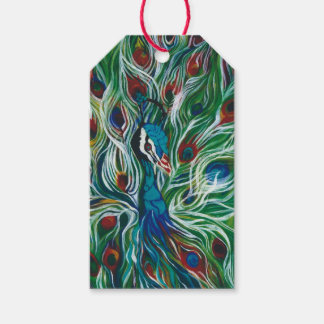 Peacock Feathers Designer Gift Tags
