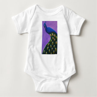 Peacock Feathers Down Baby Bodysuit