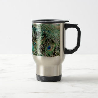 Peacock Feathers Exotic Growth New Eyes Travel Mug