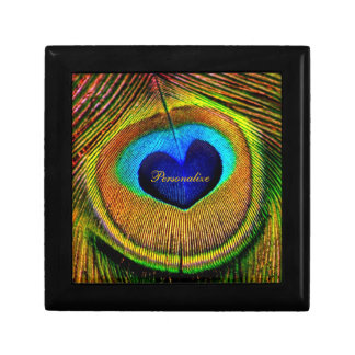Peacock Feathers Eye of Love With Name Gift Box