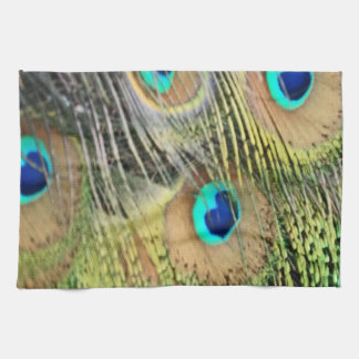 Peacock Feathers Eyes All New Growth Tea Towel