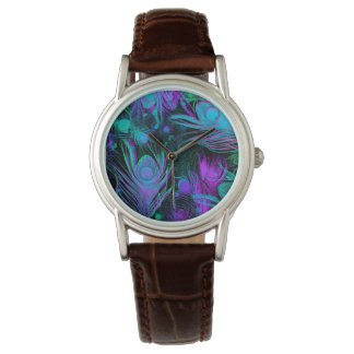 Peacock Feathers Fashion Watch by Julie Everhart