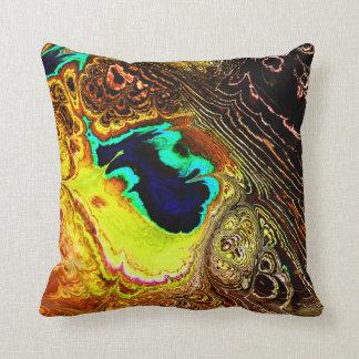 Peacock Feathers Fractal 1 Pillows