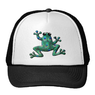 Peacock Feathers Frogs Cap