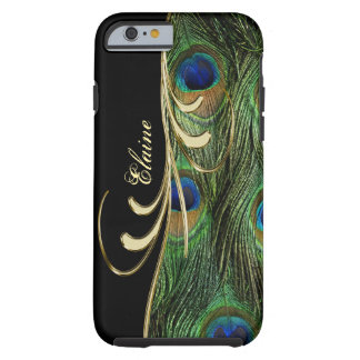 Peacock Feathers gold iPhone 6 Monogram Case