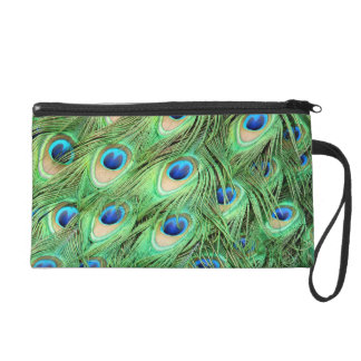 Peacock Feathers Green Blue Exotic Bird Purse