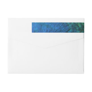 Peacock Feathers I Colorful Abstract Nature Design Wrap Around Label