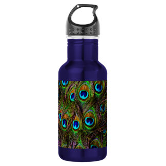 Peacock Feathers Invasion - 532 Ml Water Bottle