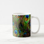 Peacock Feathers Invasion Coffee Mug
