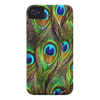Peacock Feathers Invasion iPhone 4 Case-Mate Case