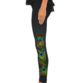Peacock Feathers Invasion Legging Tights