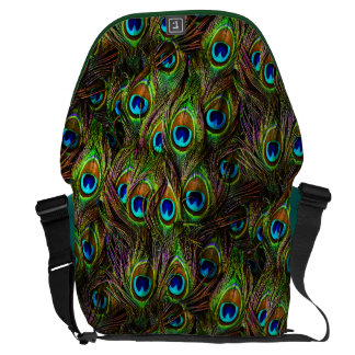 Peacock Feathers Invasion Messenger Bags