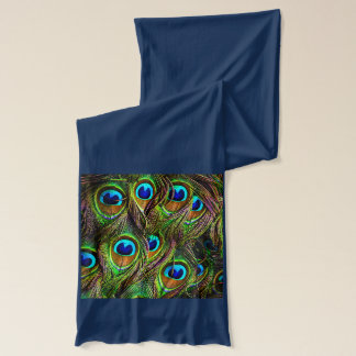 Peacock Feathers Invasion Scarf